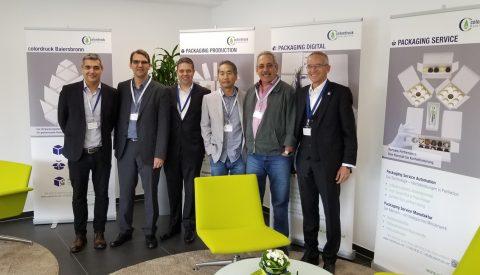 Clientes brasileiros participam do Packaging Day, na Heidelberg Alemanha